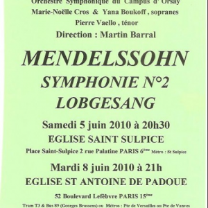 Mendelssohn Symphonie n°2 2010
