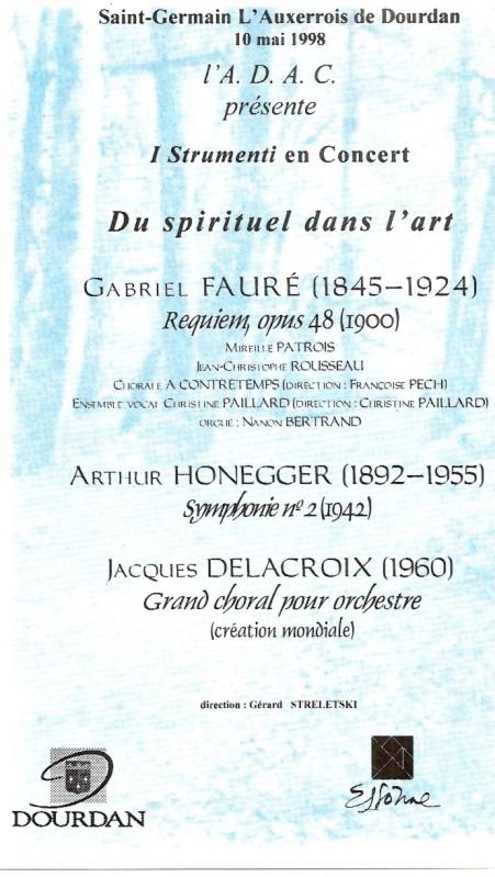 Du spirituel dans l'art 1998