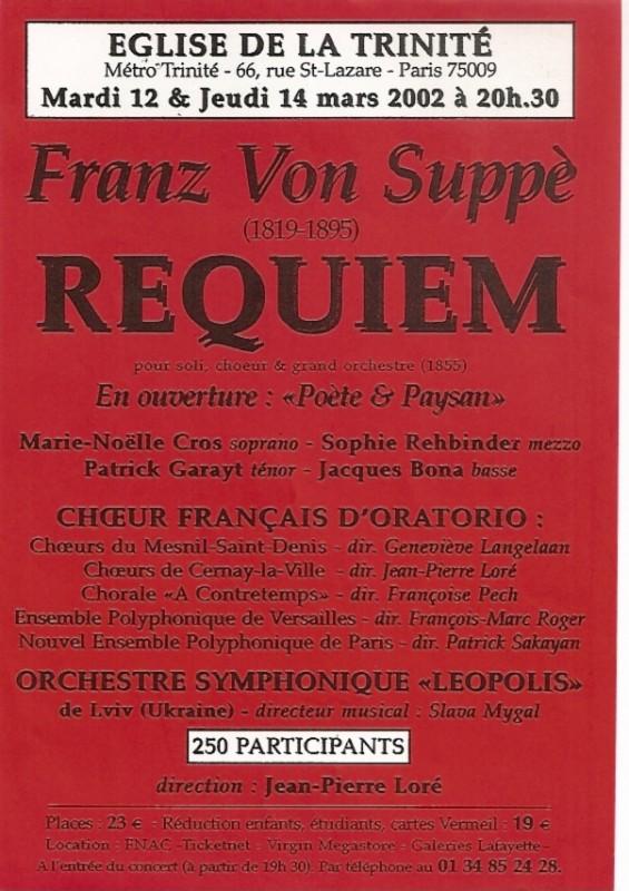 Franz Von Suppè Requiem 2002