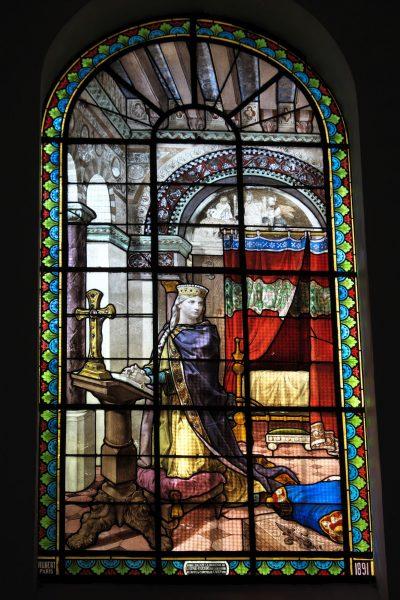 Vitrail de l'église saint-Rémi, à Draveil
